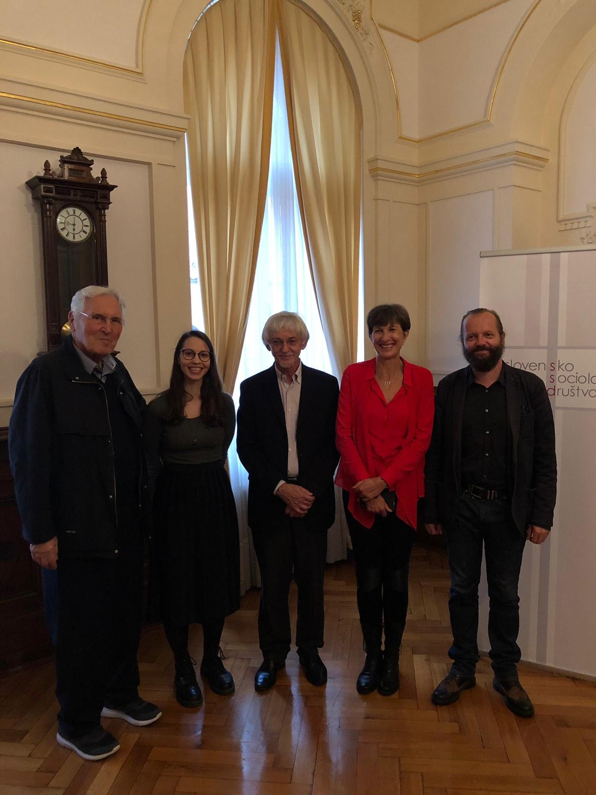 Tiskovna konferenca z nagrajenci in nagrajenkami Slovenskega sociološkega društva
