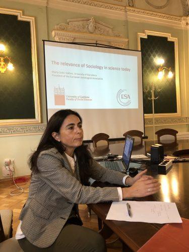 Obisk predsednice Evropskega sociološkega združenja