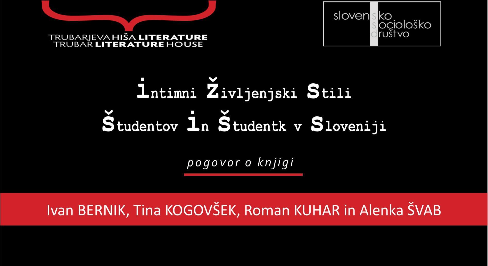 [25. 5.] Vabilo na pogovor o knjigi Intimni življenjski stili študentov in študentk v Sloveniji